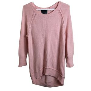 Cynthia Rowley | Soft Hi-Lo Long Sleeve Sweater